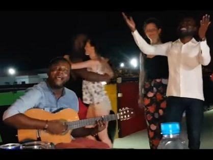 Kyaku Kyadaff Dancing and Jojo Gouveia Single Live in Luanda